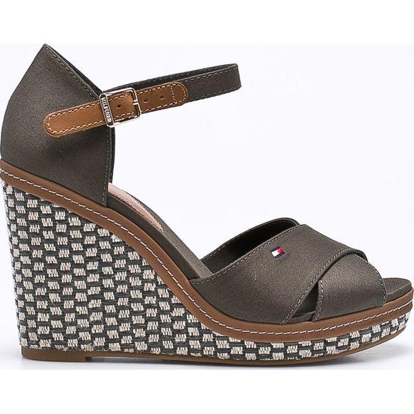 898019919b0bc Tommy Hilfiger - Sandały Iconic Elena Basic - Szare sandały marki ...