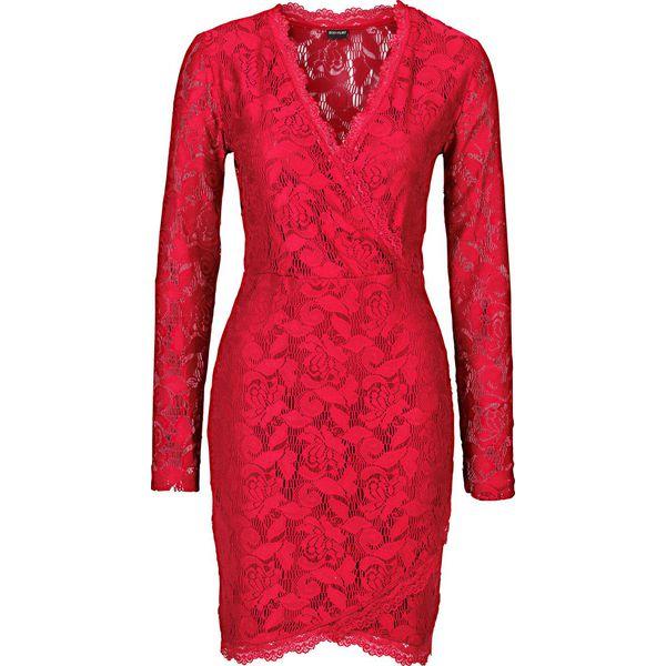 dbeab542c Sukienka koronkowa bonprix ciemnoczerwony - Czerwone sukienki marki ...
