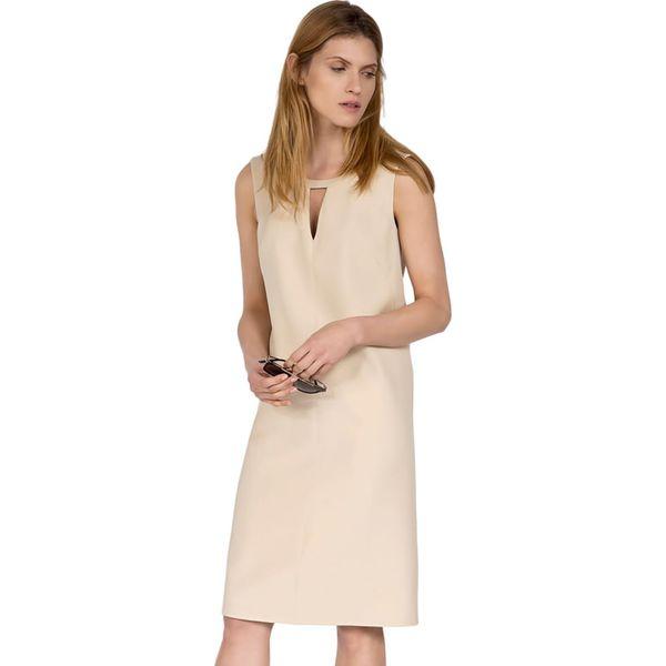 8dccea8f2e Sukienka w kolorze beżowym - Brązowe sukienki marki Deni Cler