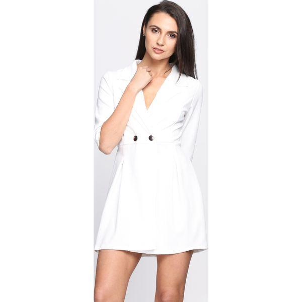 948355824d Biała Sukienka Sweet Kiss - Białe sukienki marki Born2be