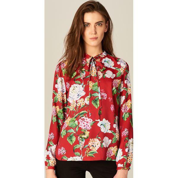 110b10c567bf Koszula z wiązaniem przy szyi - Czerwony - Czerwone koszule marki ...