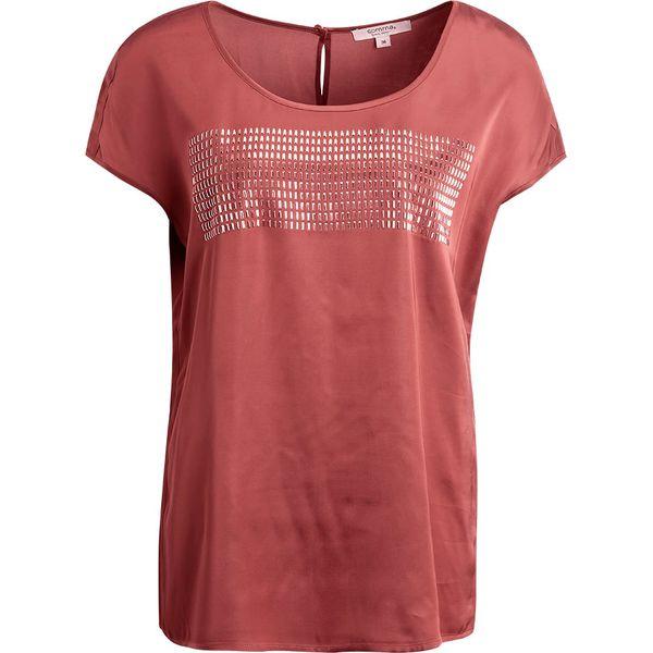 5b085b21e32c53 comma casual identity KURZARM Bluzka copper - Brązowe bluzki marki ...