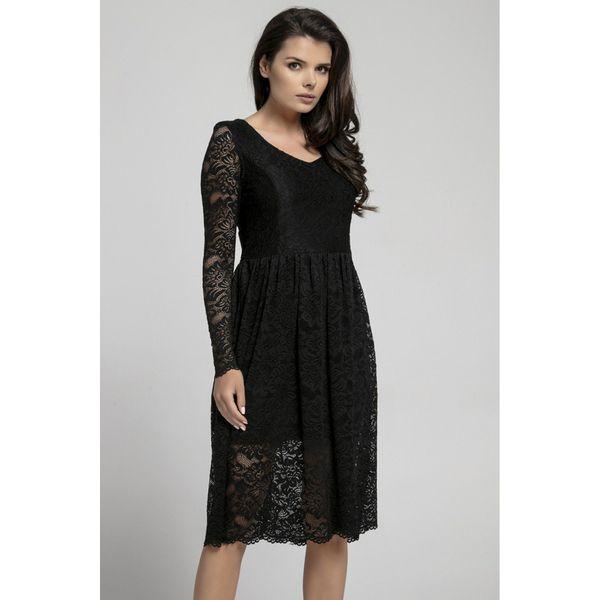 d7caf90ef Długa sukienka z koronki na313 - Czarne sukienki Pepe, w koronkowe ...