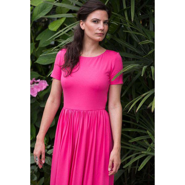 6b6054d69e Sukienka w kolorze fuksji - Czerwone sukienki marki Risk made in ...
