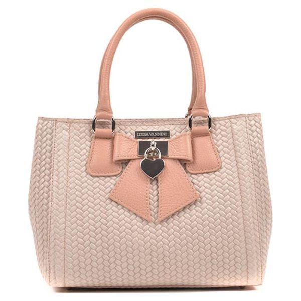 e1f99fc04da2c Skórzana torebka w kolorze różowym - (S)22 x (W)28 x (G)13 cm - Czerwone  torebki klasyczne marki Pastelowe torebki, w paski, z materiału.