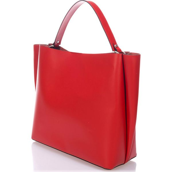 d6fa36a816ba8 Skórzana torebka w kolorze czerwonym - 37 x 50 x 15 cm - Czerwone torebki  klasyczne marki Stylowe torebki, ze skóry. W wyprzedaży za 300.95 zł.