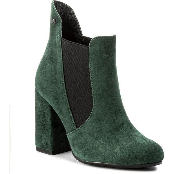 Zielone botki na szpilce Rimy Obuwie Zielony