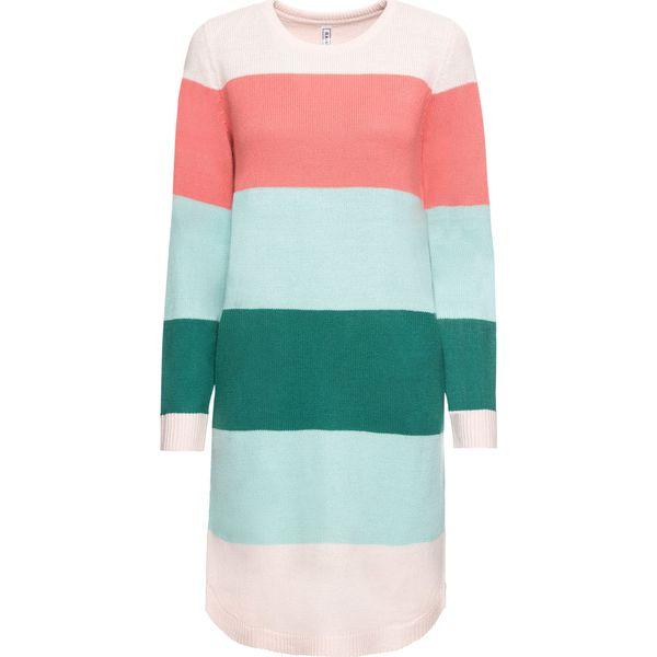 312dd59148 Sukienka dzianinowa z kieszeniami bonprix w kolorowe paski ...