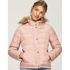 942a06ad020685 Pikowana kurtka z kapturem - Różowy. Czerwone kurtki Sinsay, l, bez wzorów,