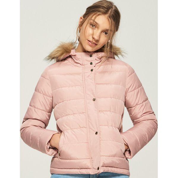 5669fd1699c220 Pikowana kurtka z kapturem - Różowy - Kurtki Sinsay. W wyprzedaży za ...