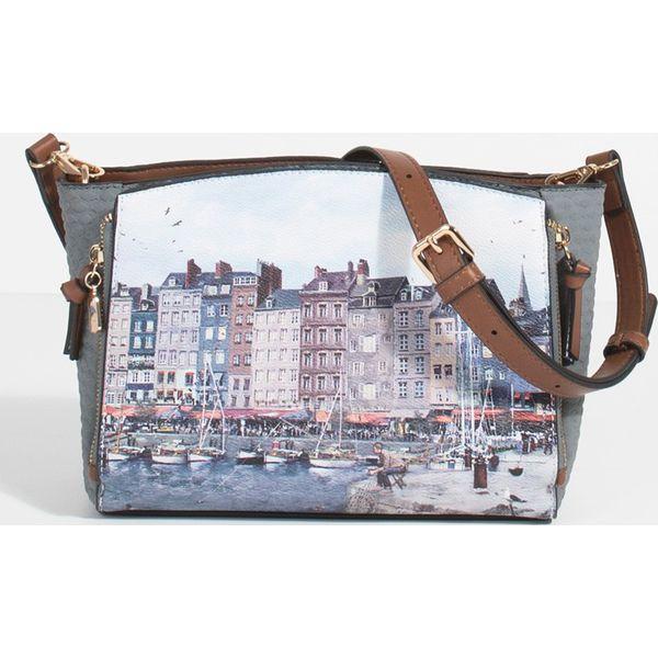 93fc982d99062 Parfois - Torebka - Szare torebki klasyczne marki Parfois, w paski ...