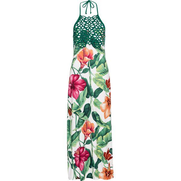 861c7b63b9 Sukienka w kwiaty bonprix biało-zielony w kwiaty - Sukienki marki ...