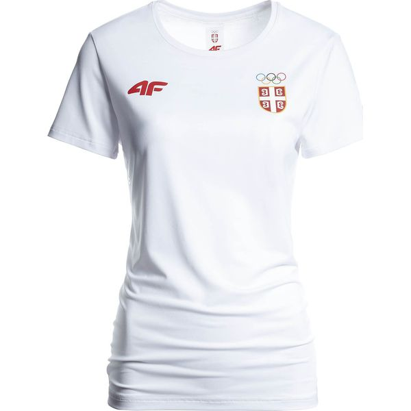 0f0c11619 Koszulka funkcyjna damska Serbia Pyeongchang 2018 TSDF700 - biały ...