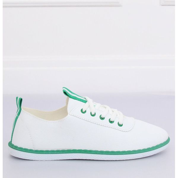 Tenisówki damskie biało zielone XJ 2918 Green białe