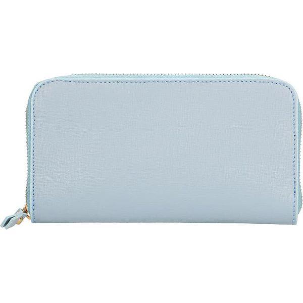 80ddb7c9a7c6c Skórzany portfel w kolorze błękitnym - 20 x 11 x 3 cm - Niebieskie ...