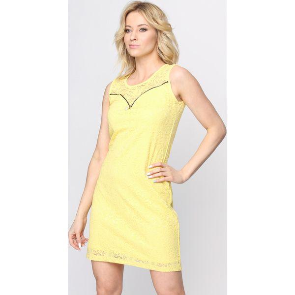 2a16ec9386 Żółta Sukienka The Crown - Żółte sukienki marki Born2be
