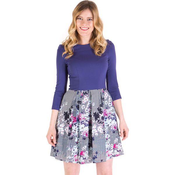 0a7713d504 Sukienka w kolorze fioletowym ze wzorem - Sukienki . W wyprzedaży za ...