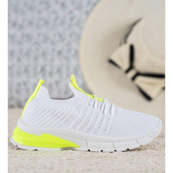 Bella Paris Ażurowe Sneakersy białe