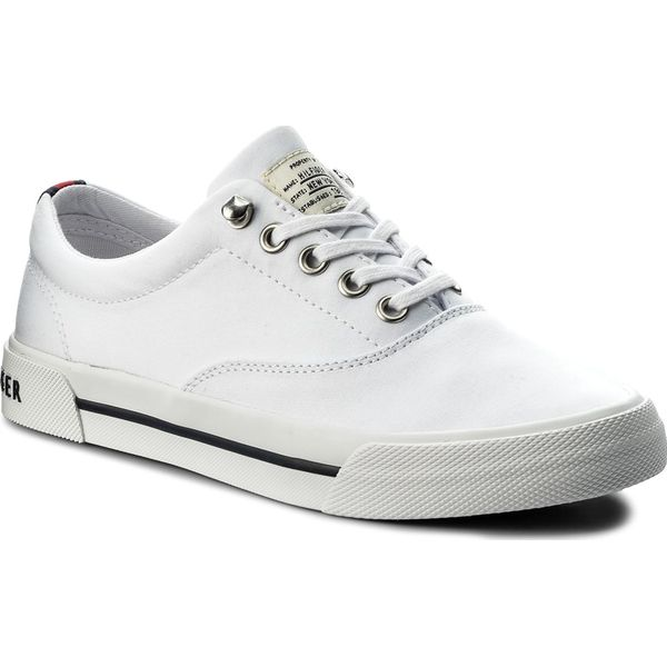 b3c61f608c0d0 Tenisówki TOMMY HILFIGER - Heritage Textile Sneaker FW0FW02797 White ...