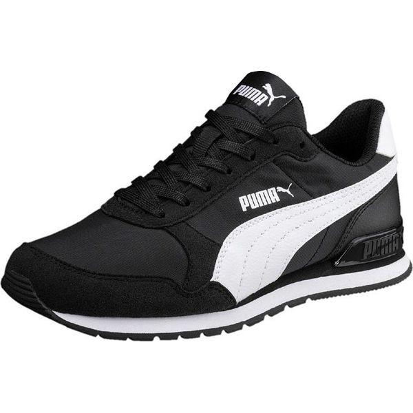przepiękny Czarne & Białe Sneakersy, Puma 698 Ignite Paski