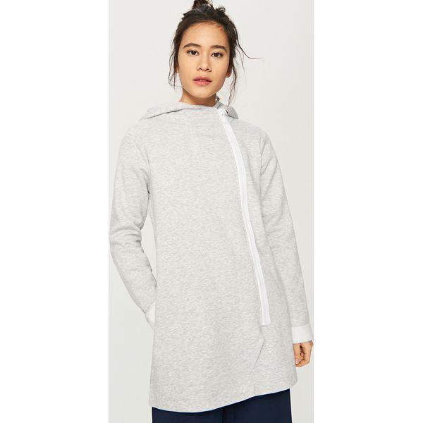 a852eaefe307b6 Długa bluza z kapturem - Jasny szar - Szare bluzy Reserved, z długim ...