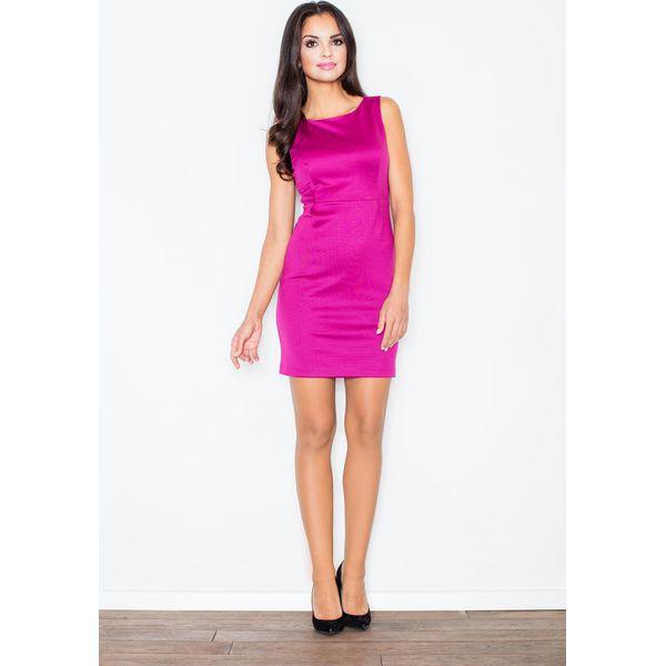 44c7e4652f Modna Ołówkowa Sukienka Bez Rękawów w Kolorze Fuksji - Czerwone ...