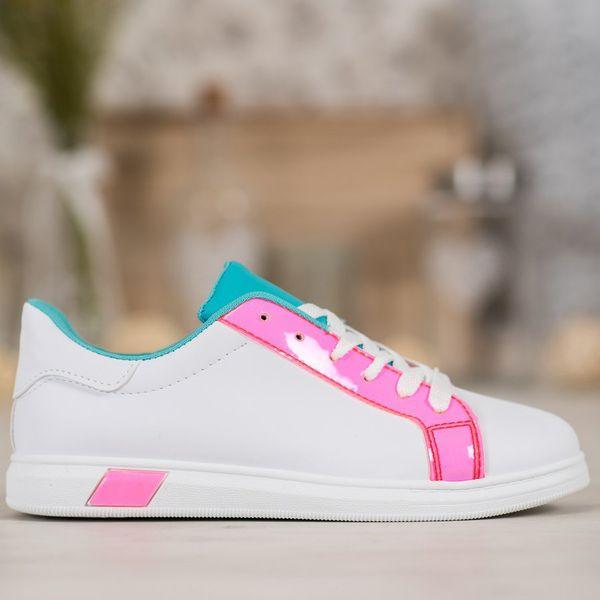 Ideal Shoes Modne Trampki Z Eko Skóry