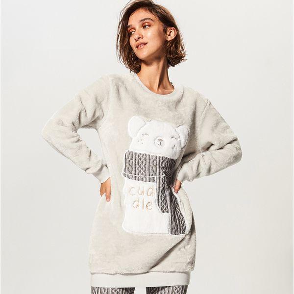 ab42ff9ed535fb Piżama ze spodniami - Jasny szar - Piżamy marki Reserved. W ...