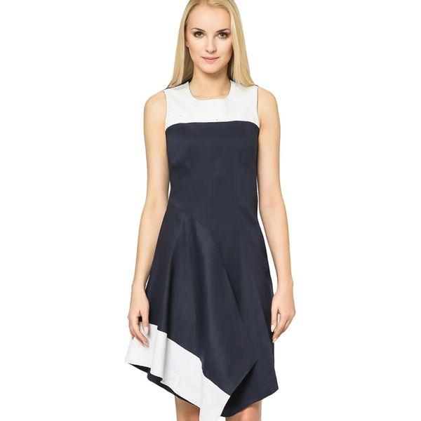 c37448a222 Sukienka w kolorze biało-granatowym - Białe sukienki marki Wiosenna ...