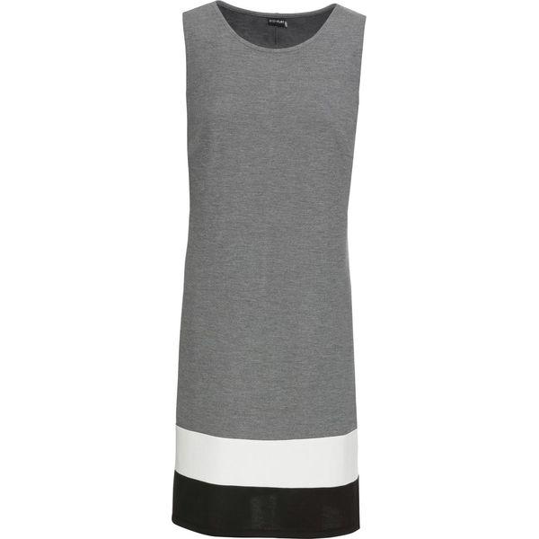 66125f8adf Sukienka z dżerseju z kontrastowymi paskami bonprix szary melanż ...