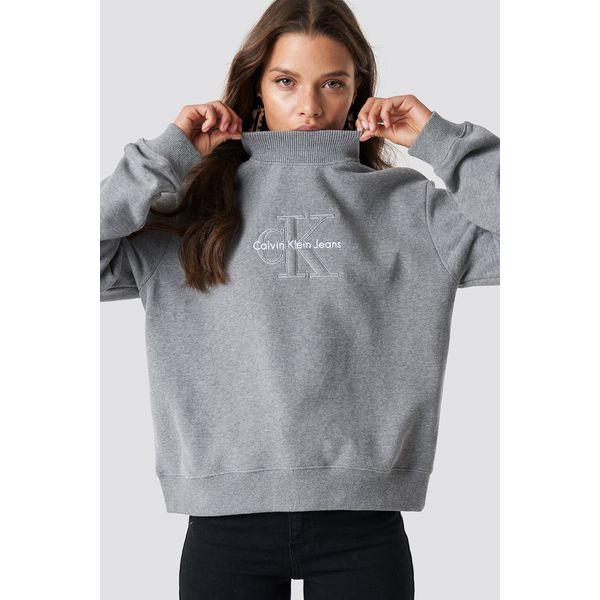 98e853a76fcb Calvin Klein Bluza z długim rękawem Hazel True Icon - Grey - Bluzy ...