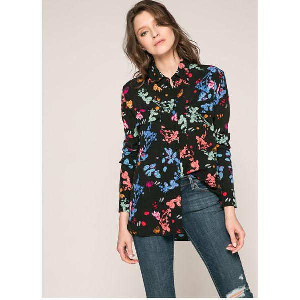 2c4e9d854 Desigual - Koszula - Szare koszule Desigual, z tkaniny, casualowe, z ...