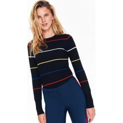 abf854e411df0c Sweter damski w kolorowe paski - Swetry - Kolekcja wiosna 2019 ...