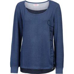 c0601d823 Bluza 2 w 1, długi rękaw bonprix indygo melanż. Niebieskie bluzy marki  bonprix,