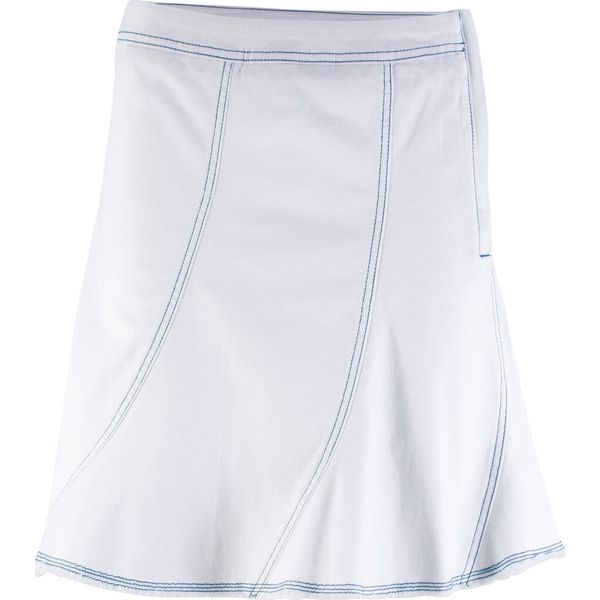 1b80b1a0 Spódnica dżinsowa ze stretchem bonprix biały twill
