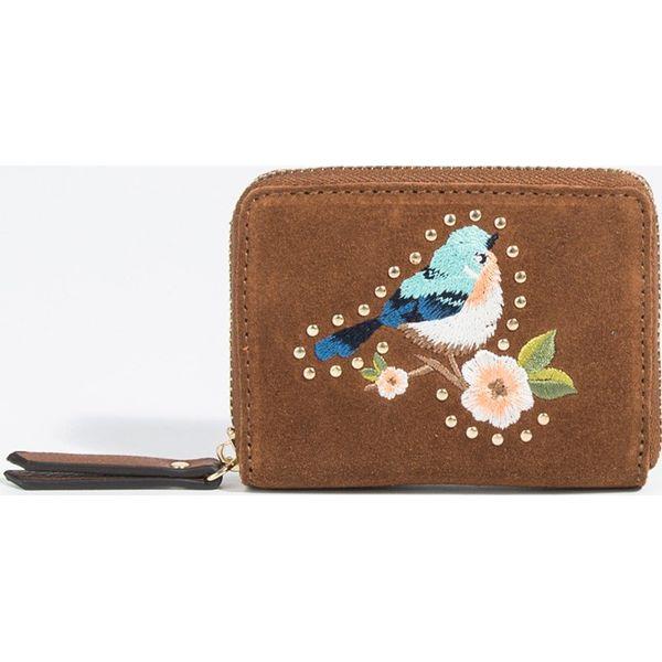 780e01f10275e Parfois - Portfel skórzany - Brązowe portfele marki Parfois