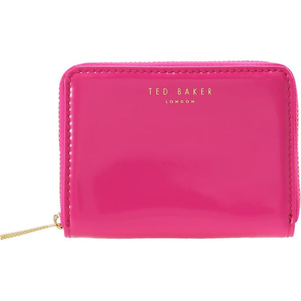 3c77bcf4c4181 Ted Baker OMARION PATENT ZIP AROUND MINI PURSE Portfel bright pink ...