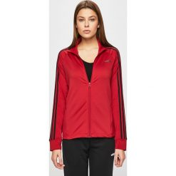 Czerwone bluzy z kapturem adidas Kolekcja wiosna 2020