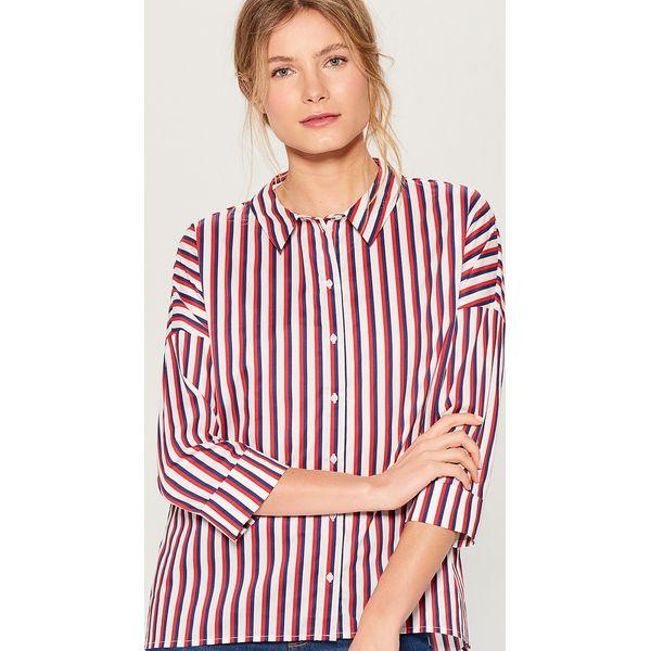 8474c94b3e6b3a Koszula oversize z dekoltem na plecach - Czerwony - Koszule marki ...