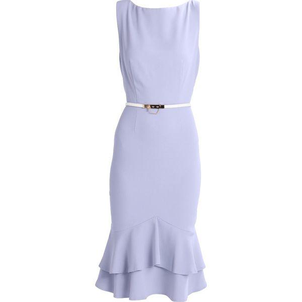 9f2d11a9a Paper Dolls Sukienka etui powder blue - Niebieskie sukienki marki ...