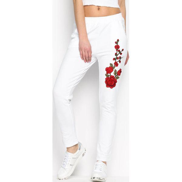 2f58c3f9 Białe Spodnie Dresowe Rosy Roses