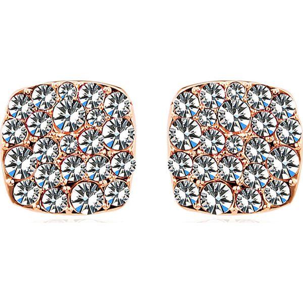 a1ff4f22a48d Pozłacane kolczyki-wkrętki z kryształkami Swarovskiego - Żółte ...