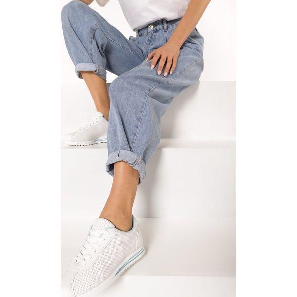 Biało Niebieskie Buty Sportowe Evidone