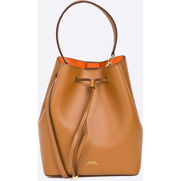 ae680b07fb810 Lauren Ralph Lauren - Torebka skórzana - Pomarańczowe torebki ...
