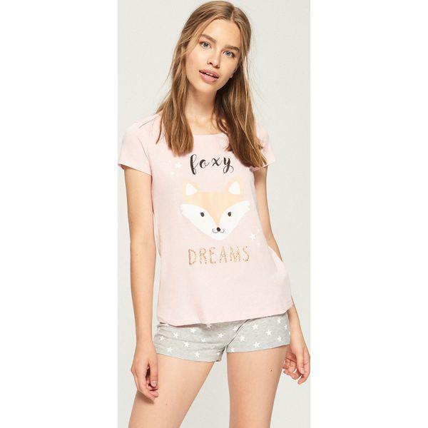 f17c0b3e49e5a6 Dwuczęściowa piżama z lisem - Pomarańczo - Piżamy . W wyprzedaży za ...