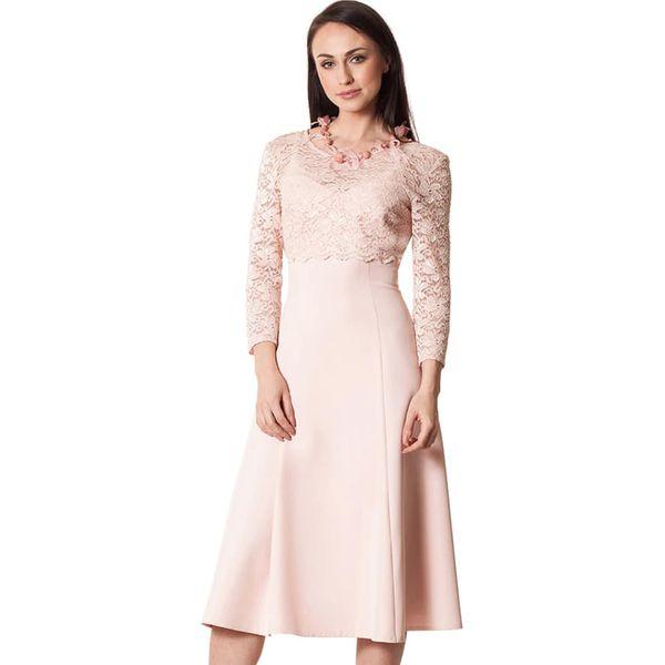 c2d144437 Sukienka w kolorze pudrowym - Czerwone sukienki Semper, s, z ...