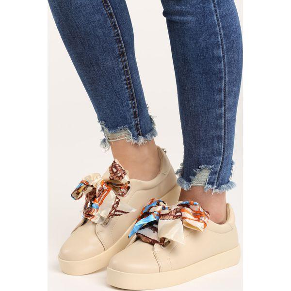 Beżowe Buty Sportowe Save Me