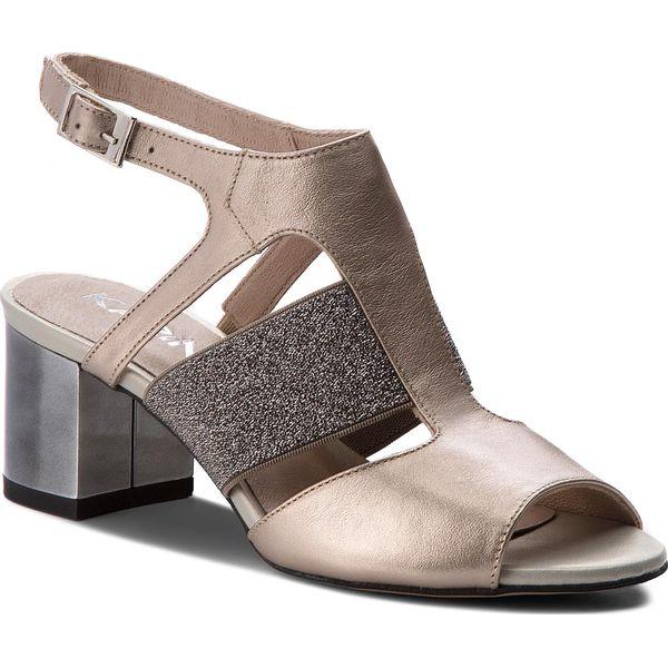 c7d425ba15f22 Sandały KARINO - 2541/074-P Złoty - Żółte sandały marki Karino, z ...