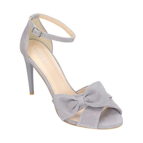 80740b626e43b Skórzane sandały w kolorze jasnoszarym - Sandały marki Wojas. W ...