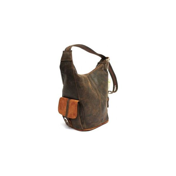 Torebka skórzana plecak WuKaDor Style W102 brązoworuda